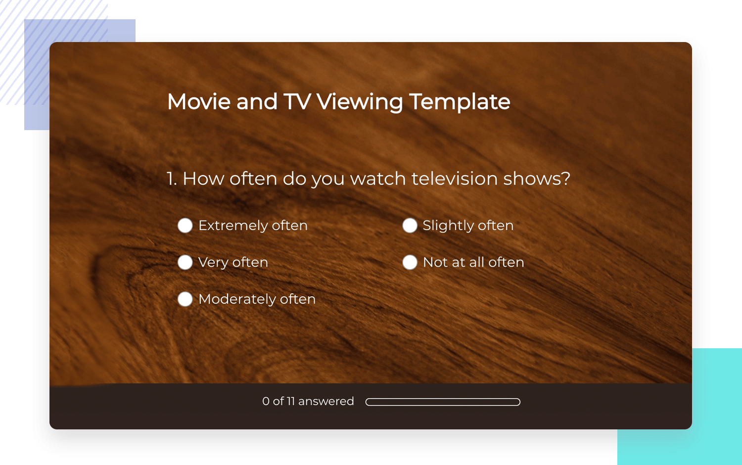 tv research survey example by surveymonkey as template