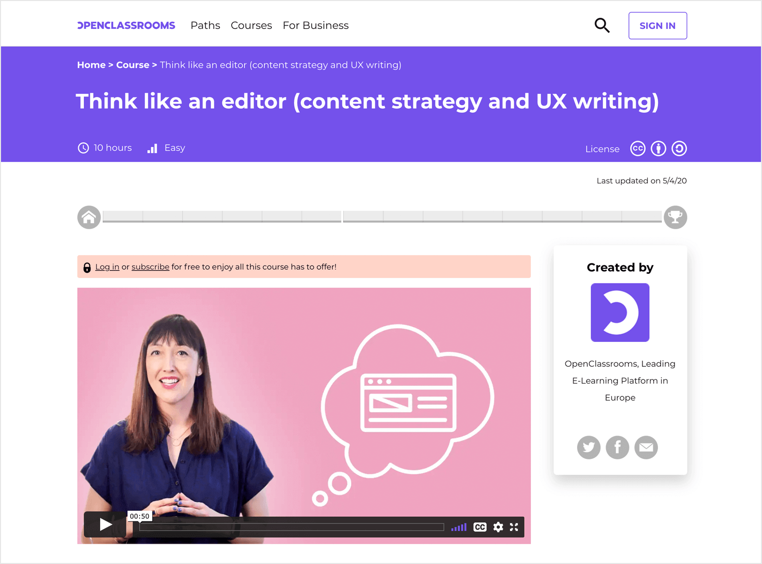 UX writing course - Think like an editor
