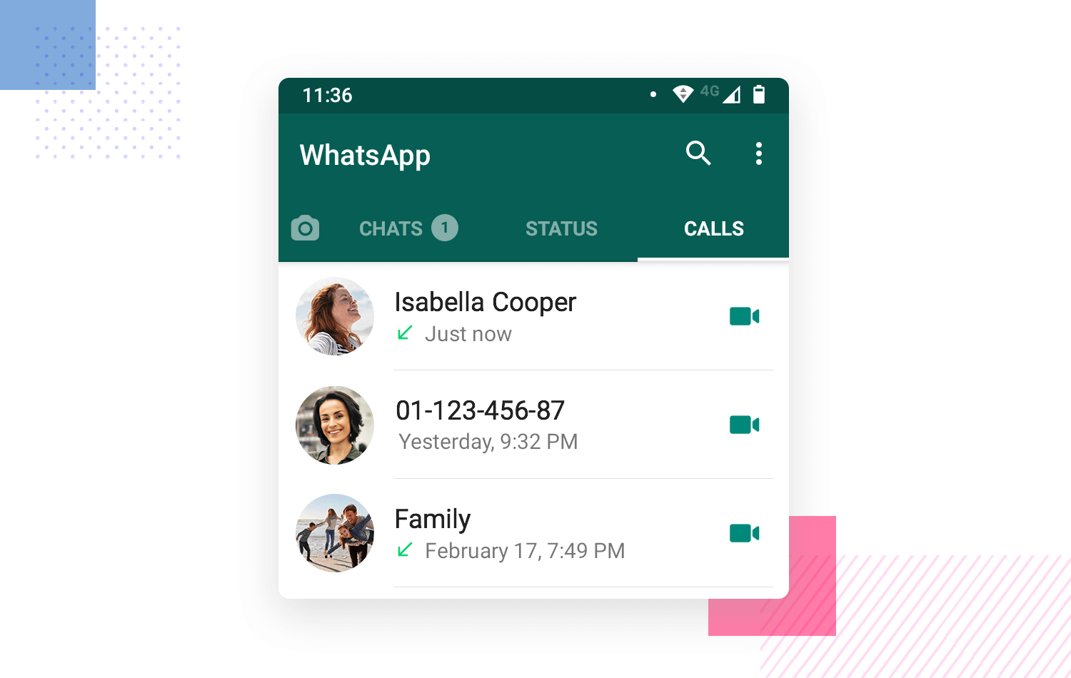 UX writing - Whatsapp using