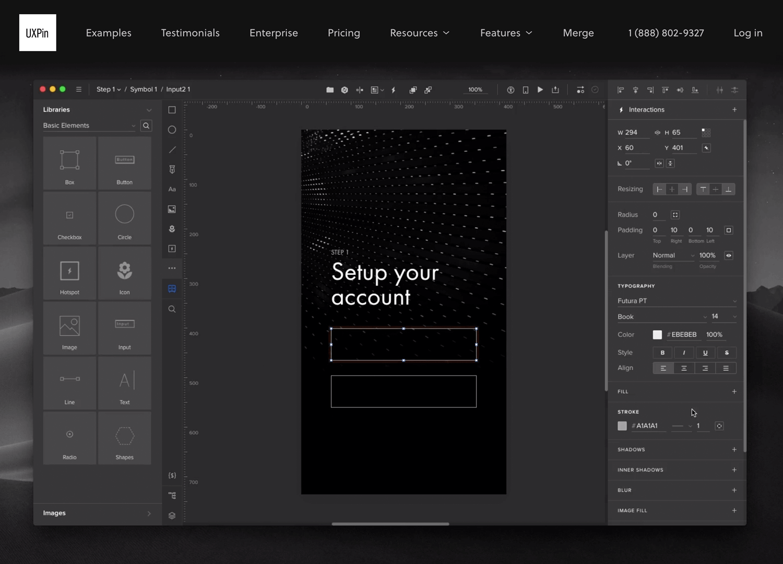 UX design tools - UXPin