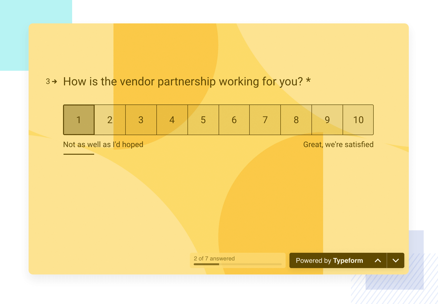 vendor satisfaction survey example by typeform