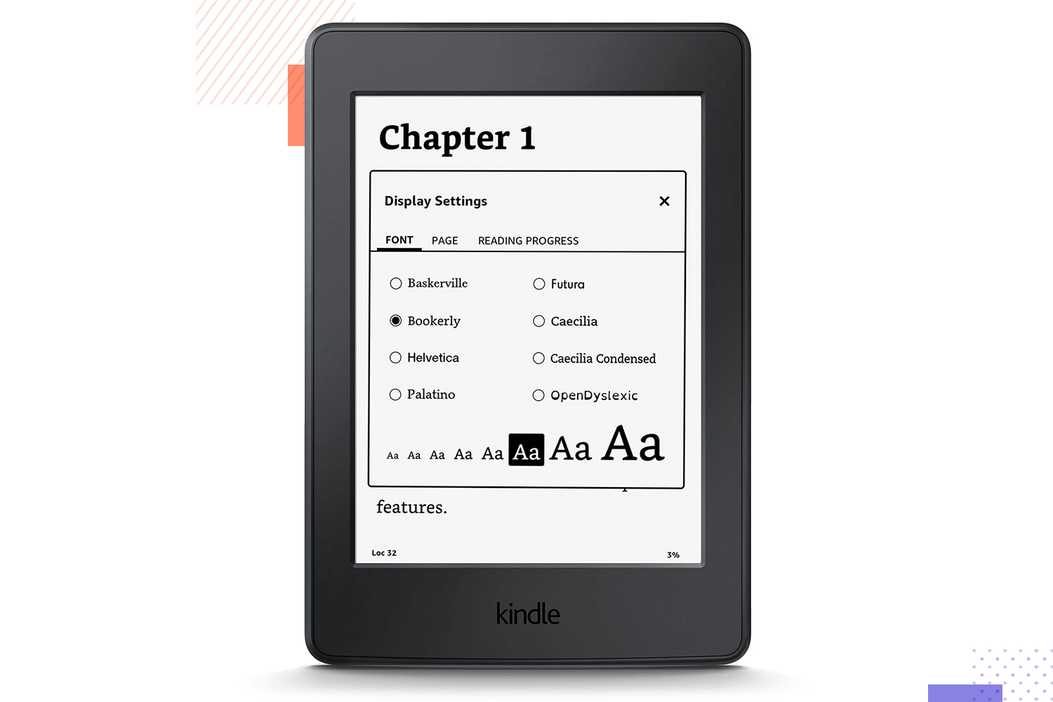 amazon kindle as example of accessible ux design