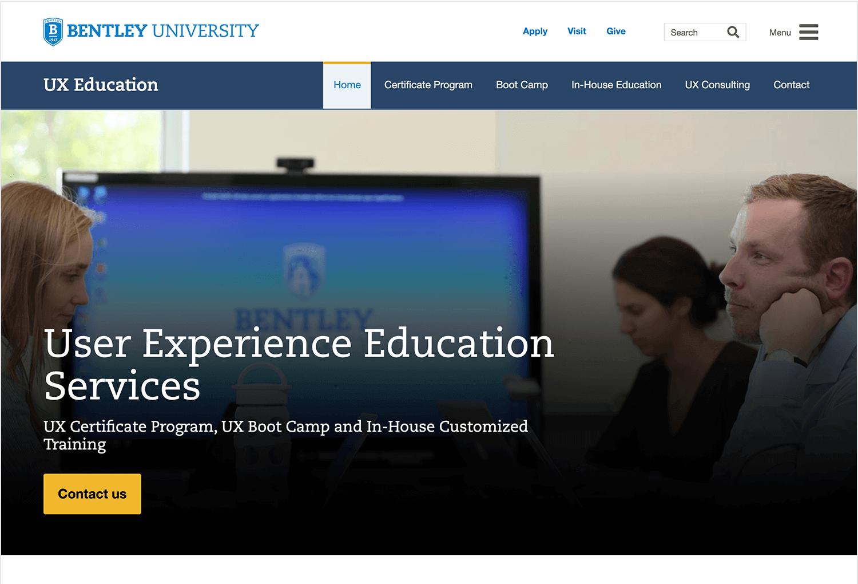 UX course in Bentley University