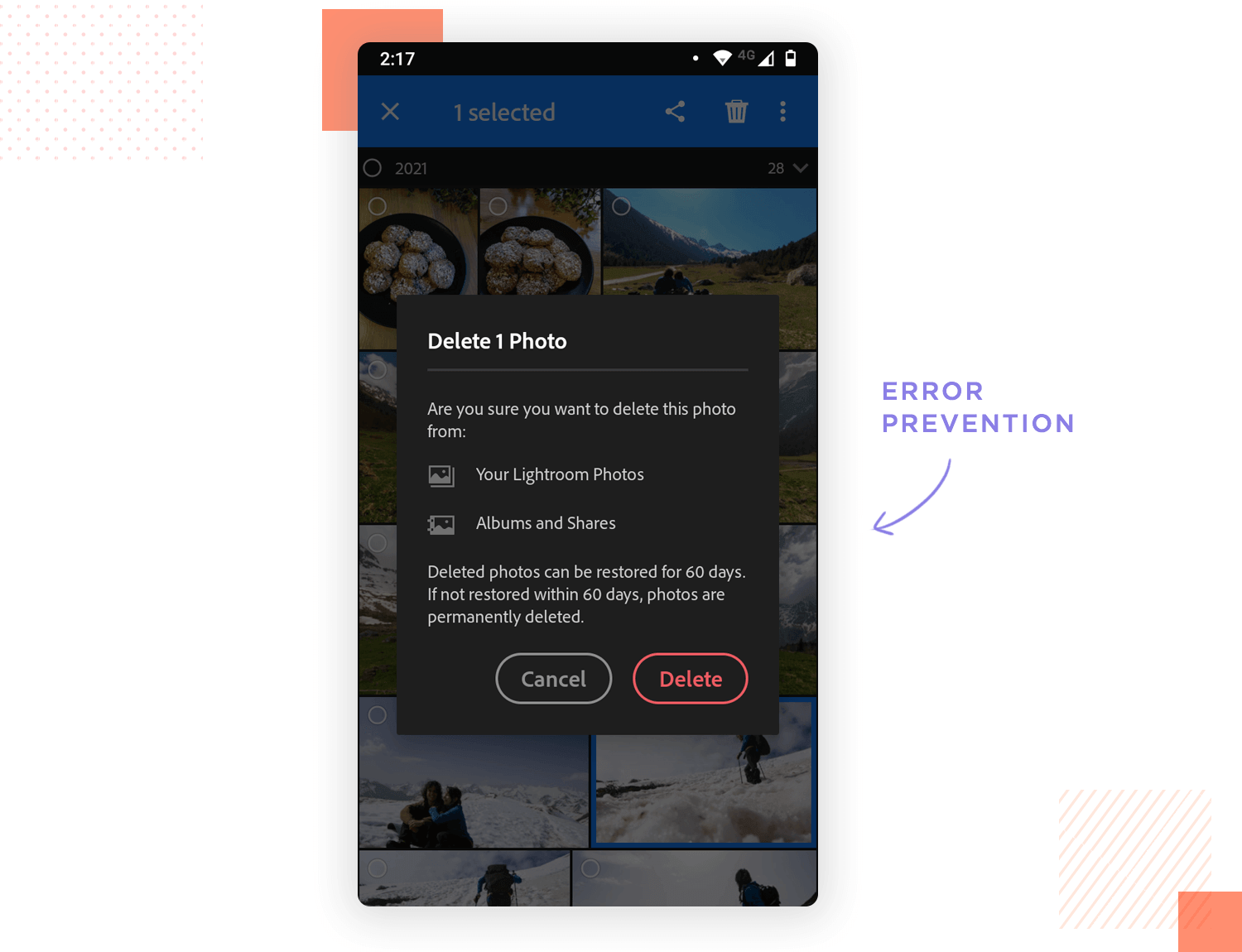 error prevention as example of ux design heuristic