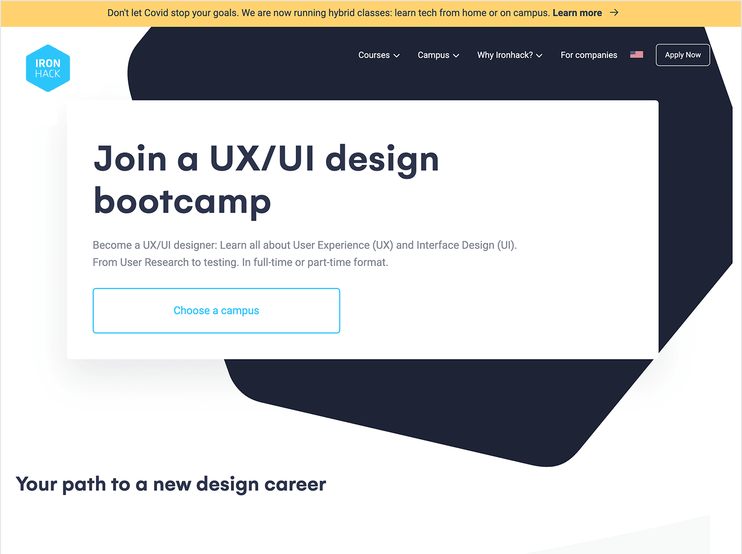 Iron Hack in classroom UX design course in Amsterdam