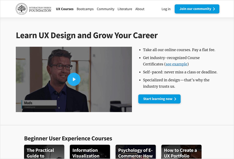 Online UI/UX design course on the design foundation
