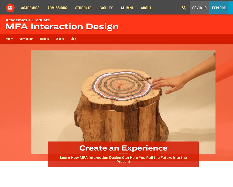 interaction design gratuate program