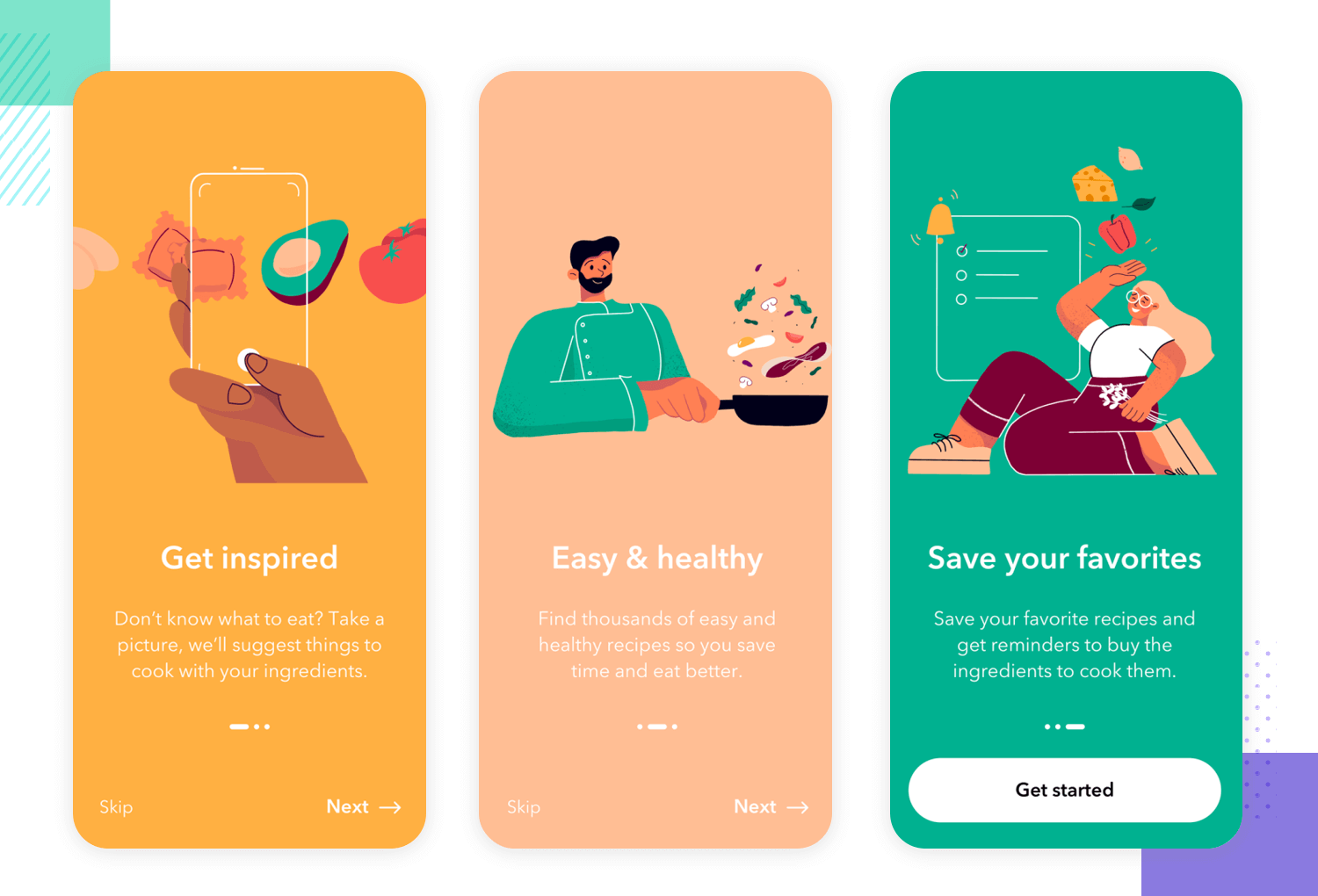 mobile app onboarding example for ux design