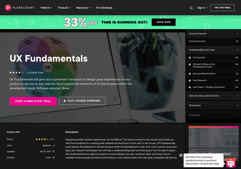UI-UX design course from Pluralsight