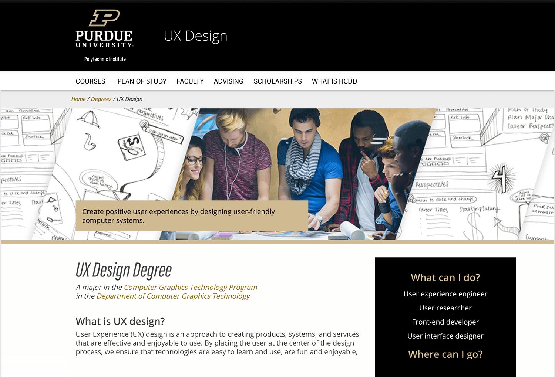 purdue university and its ux design course