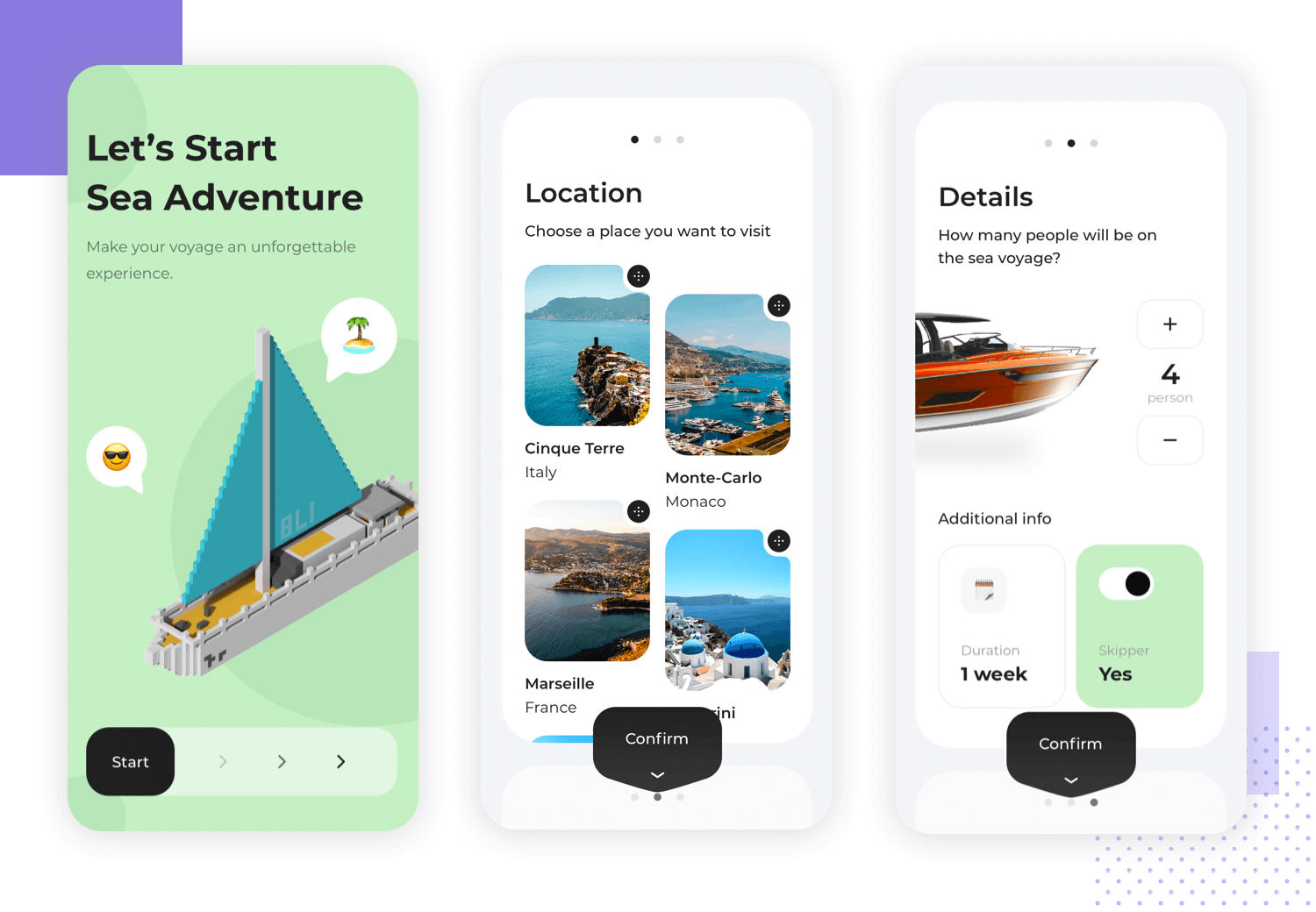 example of mobile app ux with touch friendly elements