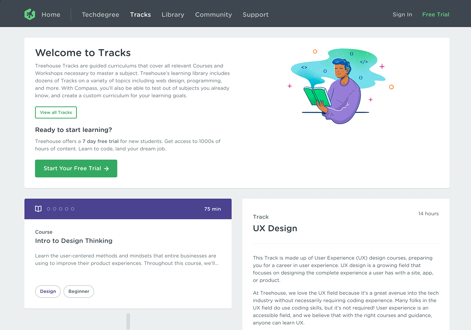 Online UI/UX design course at Treehouse