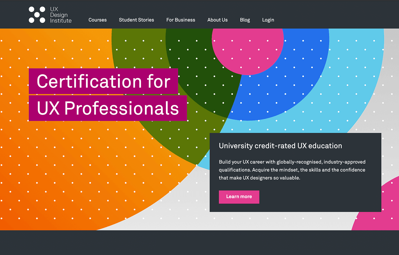 UX design institute's paid course for new designers