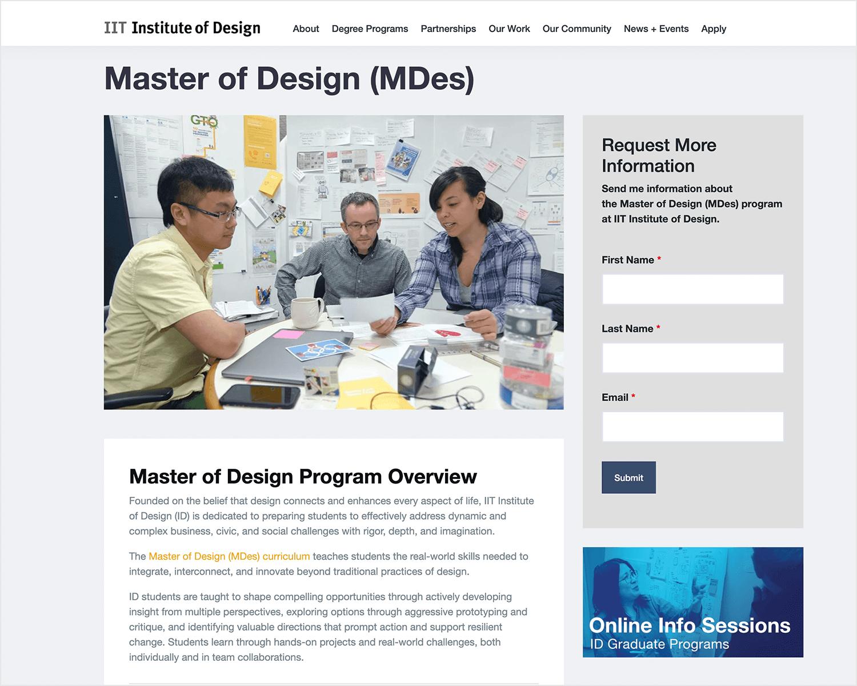 ux design masters in chicago