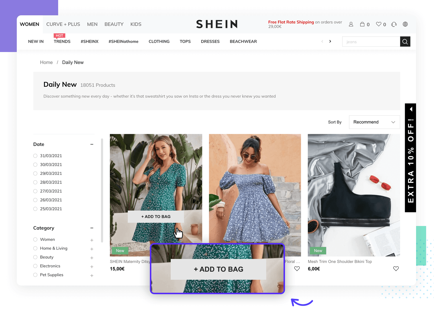 example of website design with system visibility status