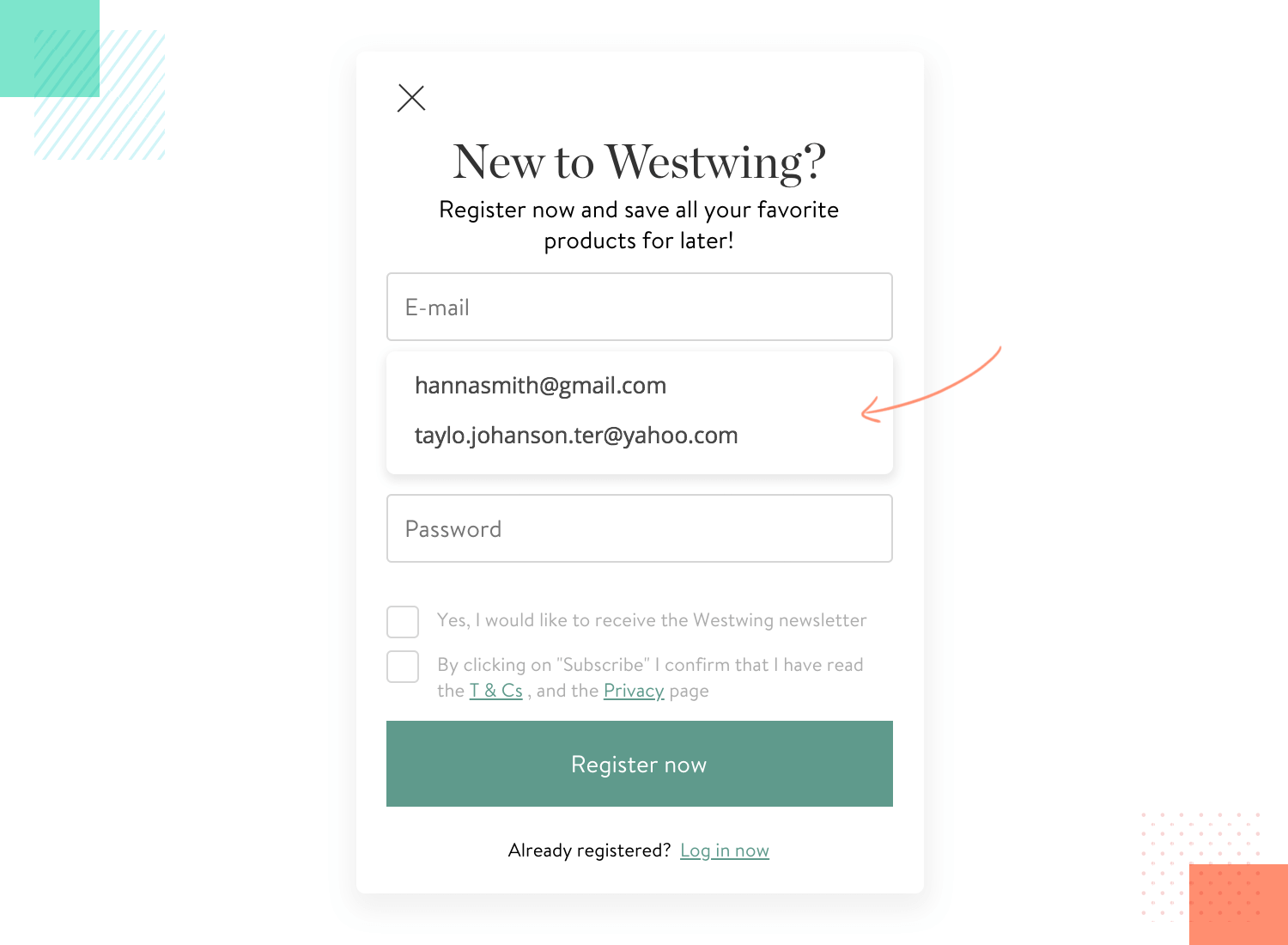 example of great form design by westwting