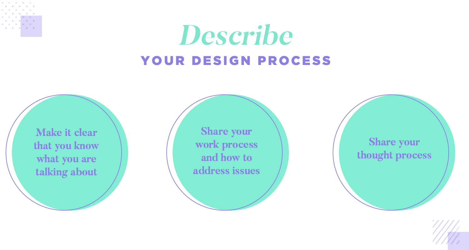 describe your own design process when looking for a ux job