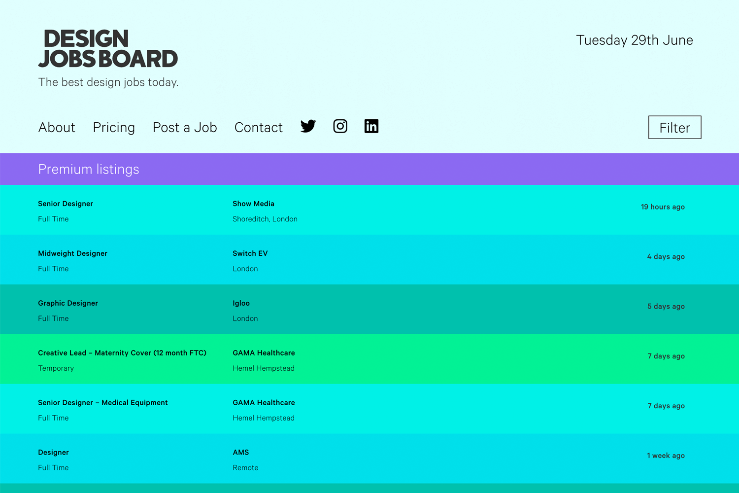 design jobs board as place for ux opportunities