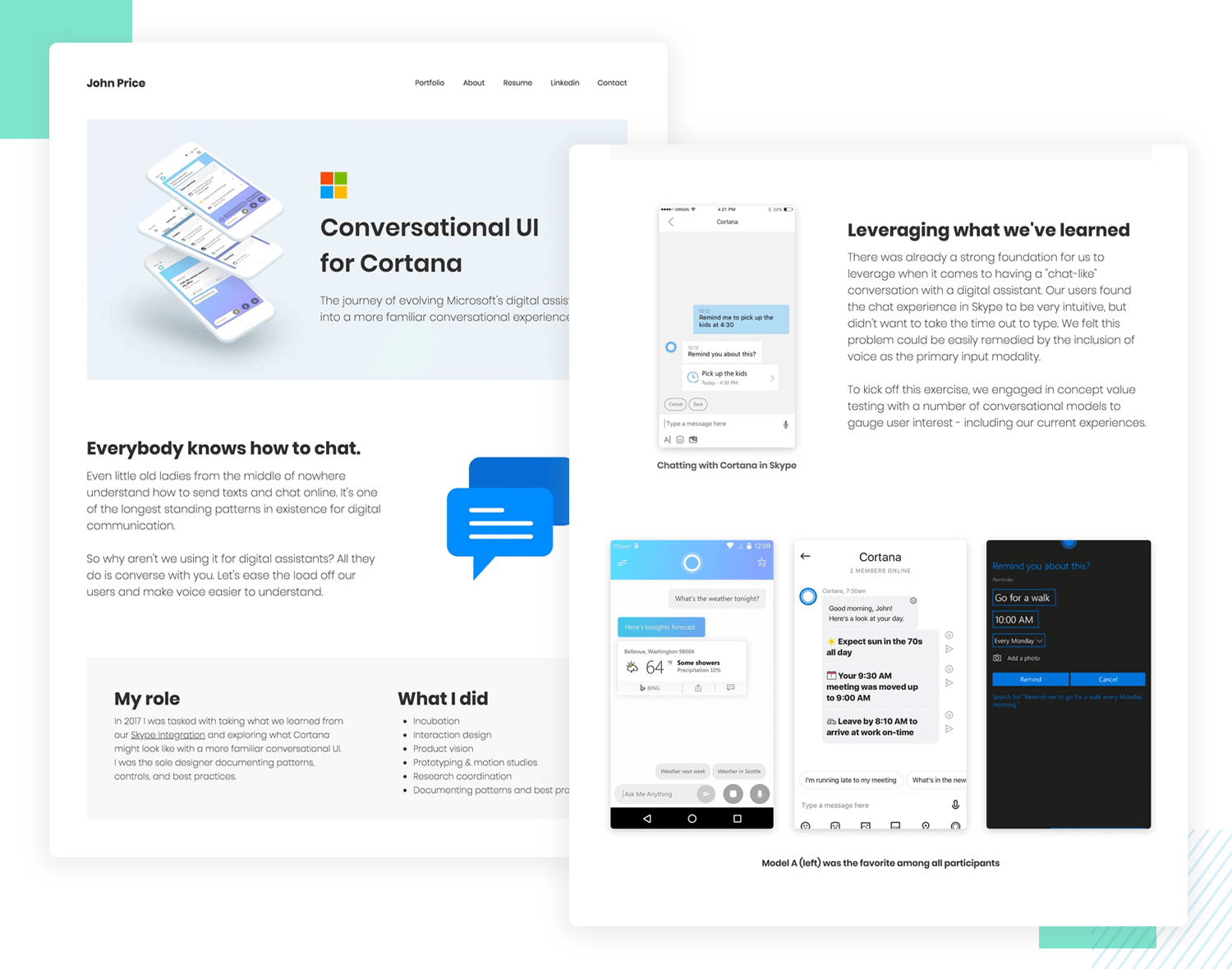 when looking for a ux job, always include a portfolio with case studies