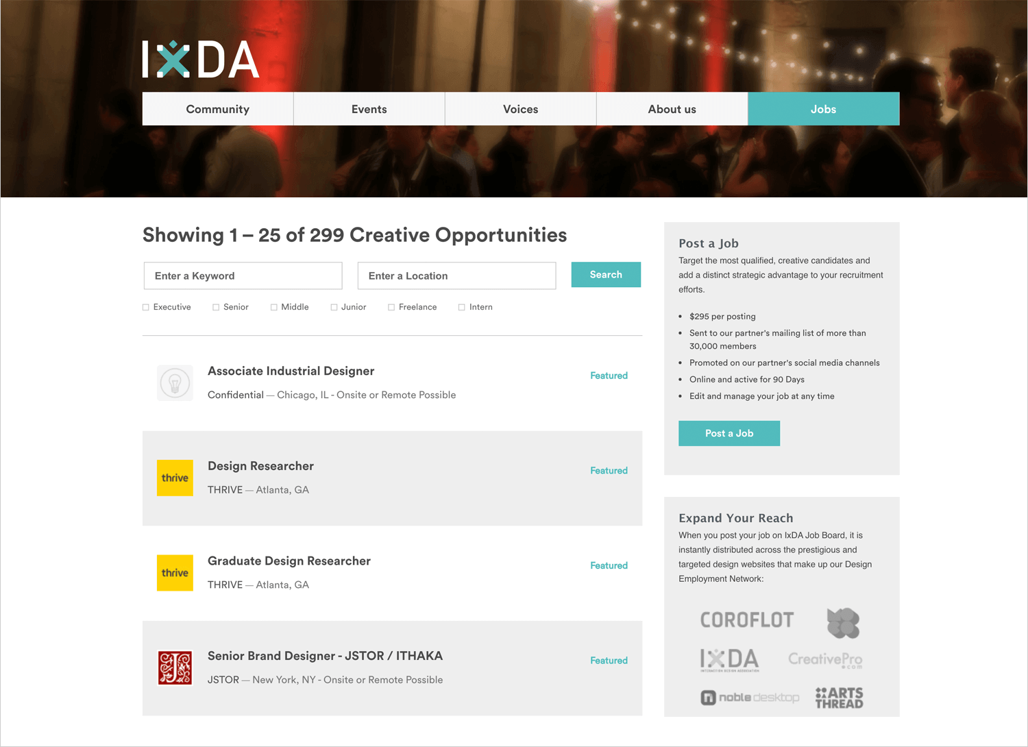 IxDA as a place to find ux design jobs