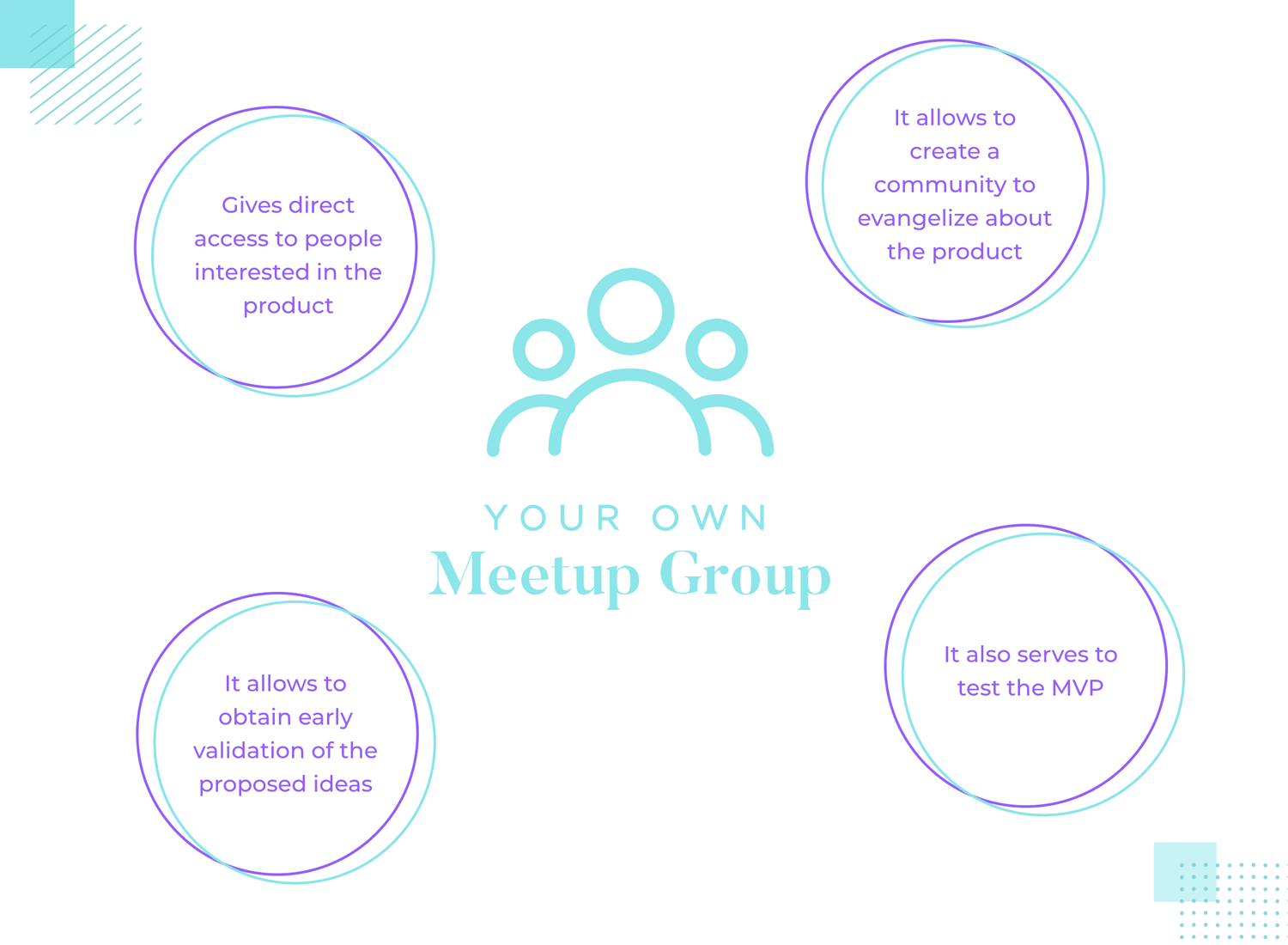 benefits of meeting potential users