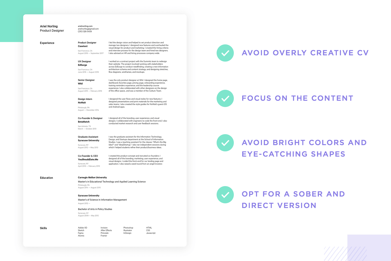 how to make a ux design resume