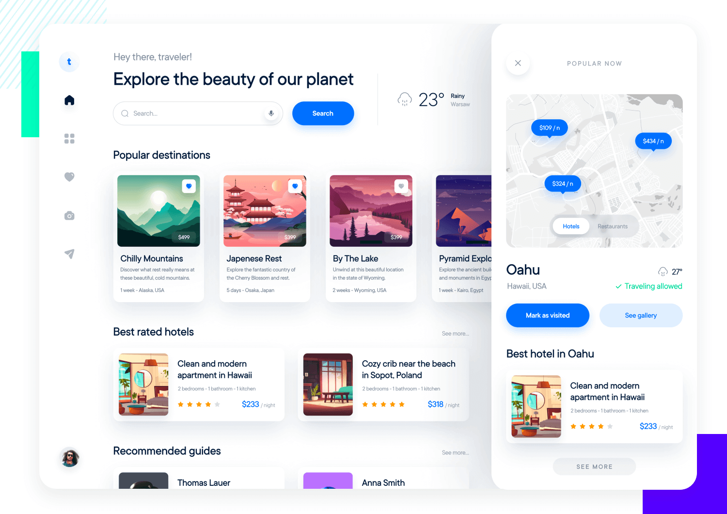 example of ui pattern of cards