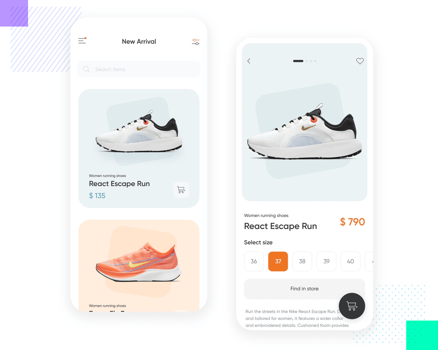 product page example of ui pattern