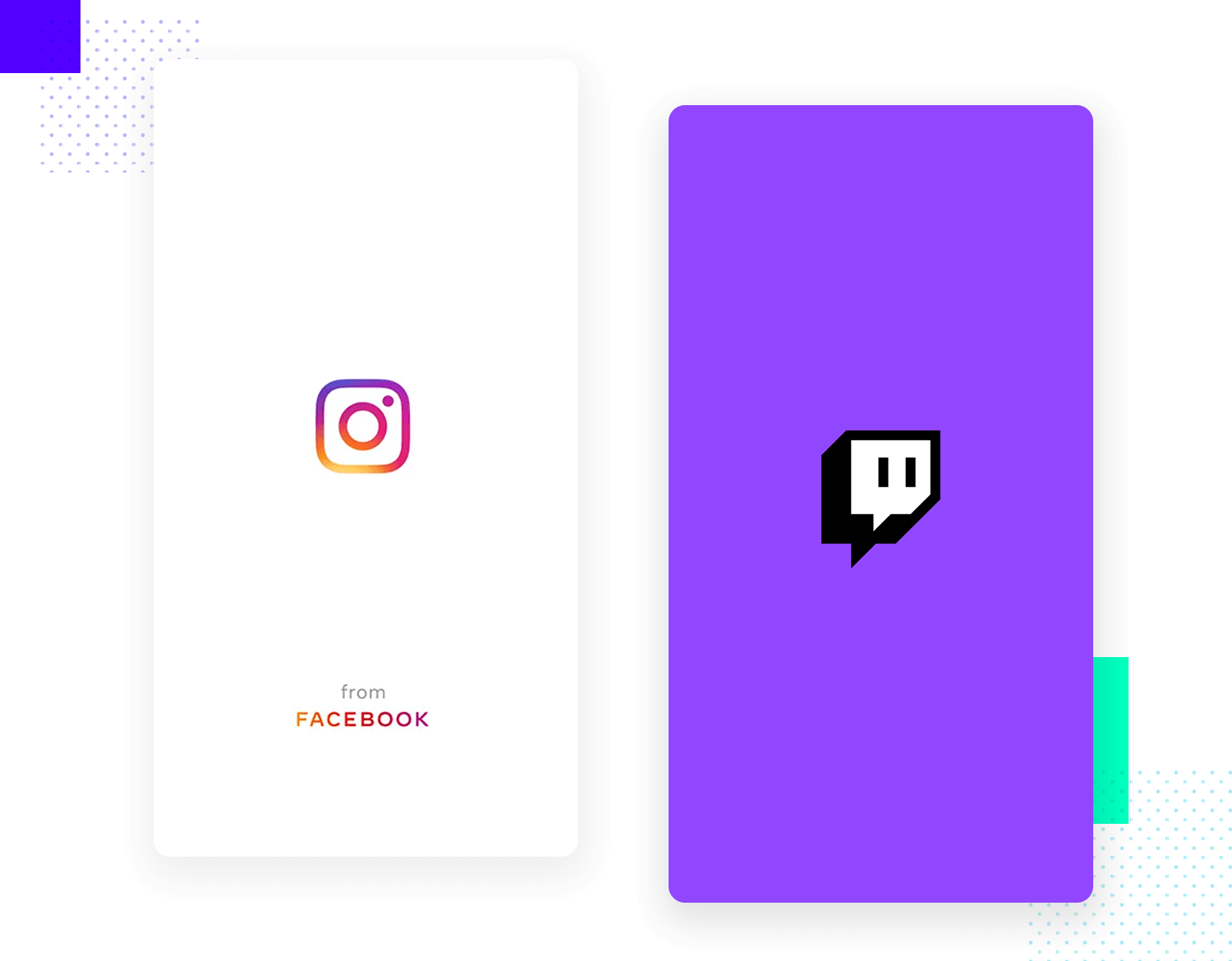 example of a couple of splash screens as ui design pattern