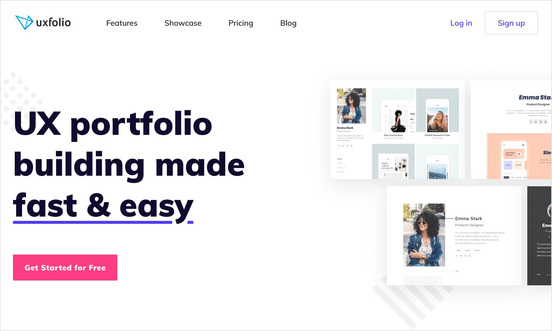 uxfolio as great website for ux portfolios