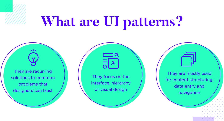 diagram representing what UI patterns are