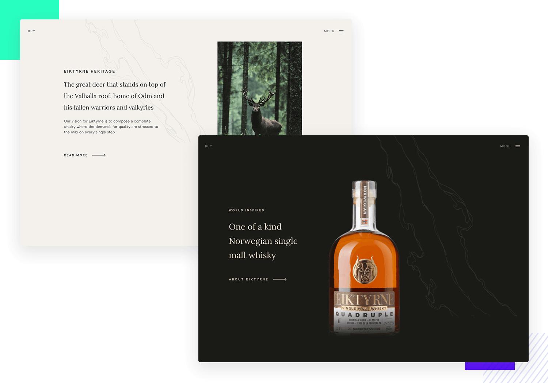 Eiktyrne as ui design website inspiration