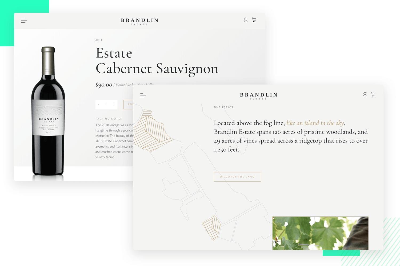 brandlin estate website as ui design example