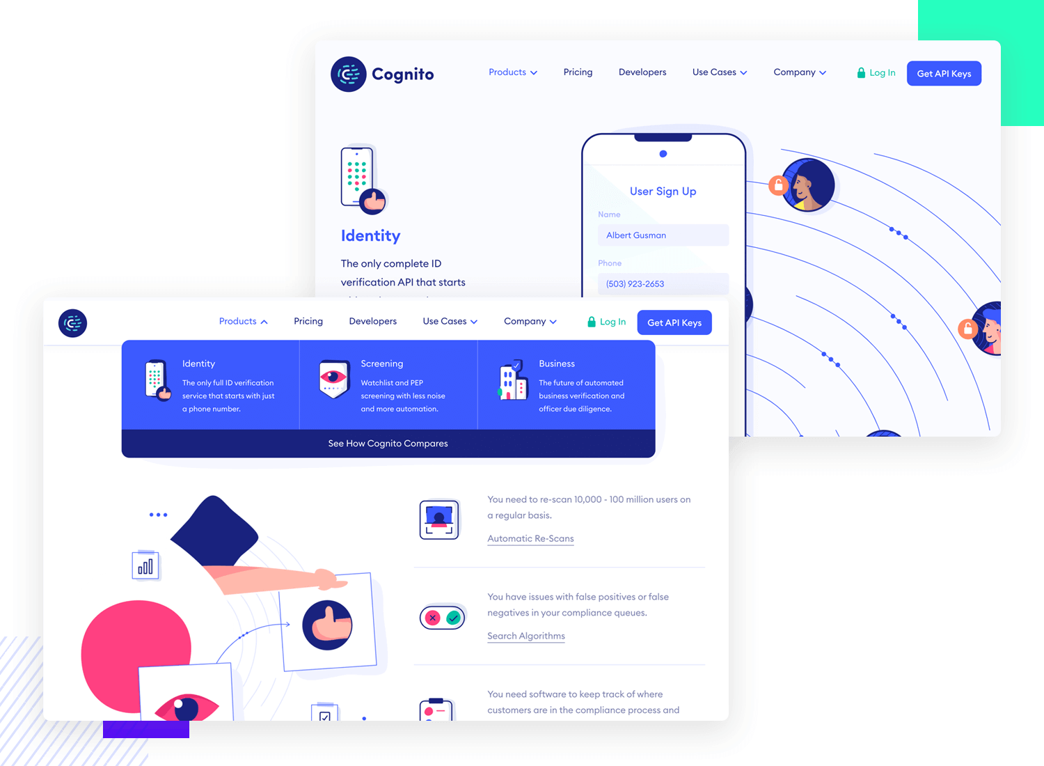 ui design example for animation from cognito