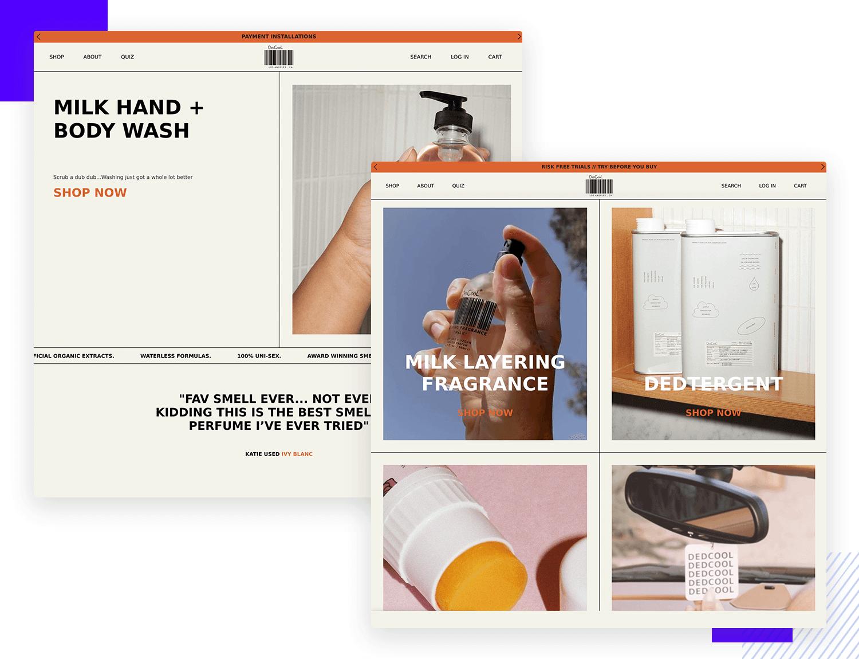 dedcool website as example of good ui design
