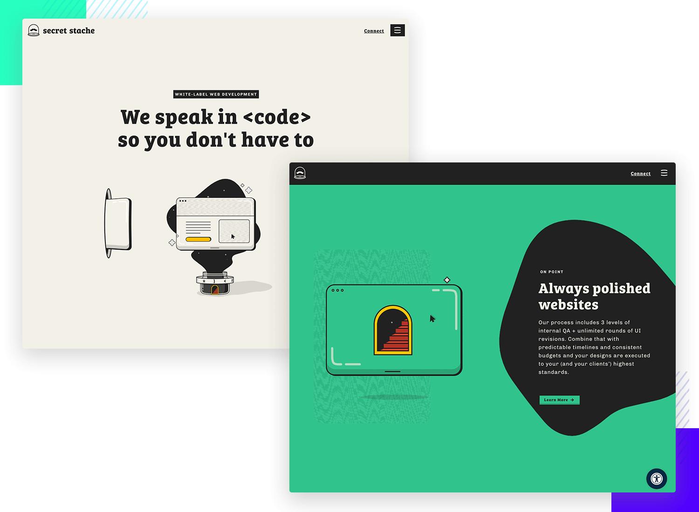secret stash as ui design website example