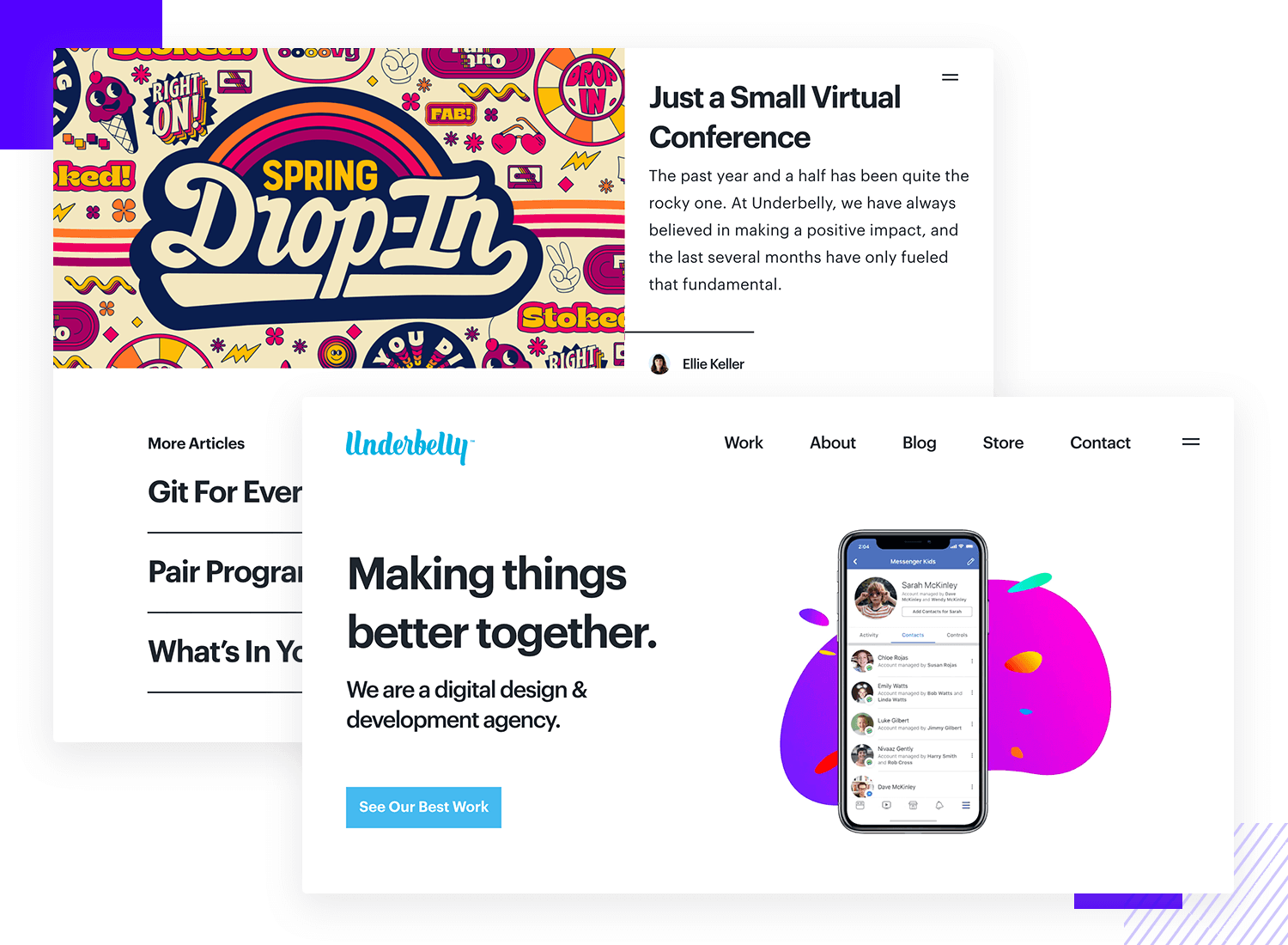 underbelly as example of ui design