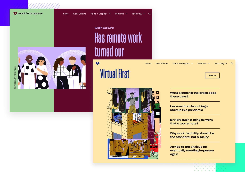 work in progress as ui design example