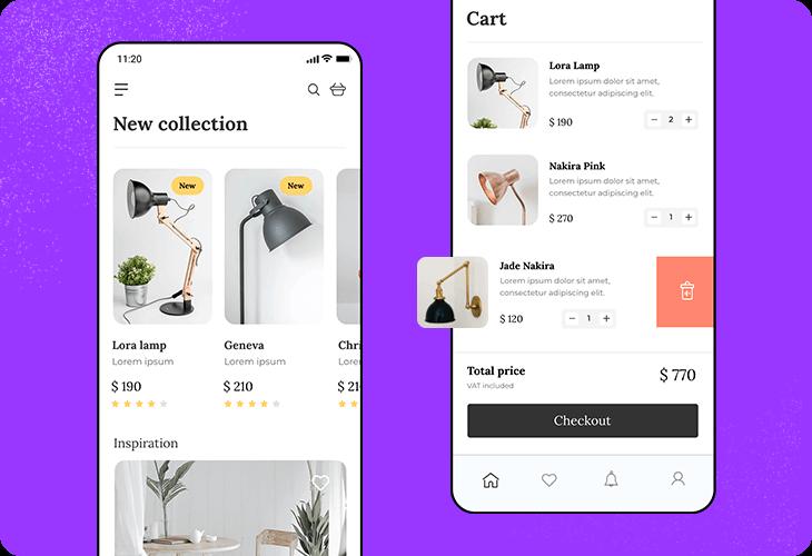 Lamp shop app template