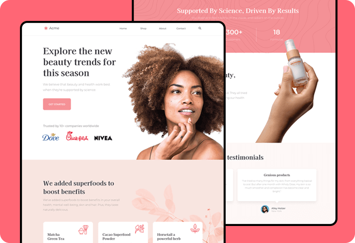 beauty products ecommerce template