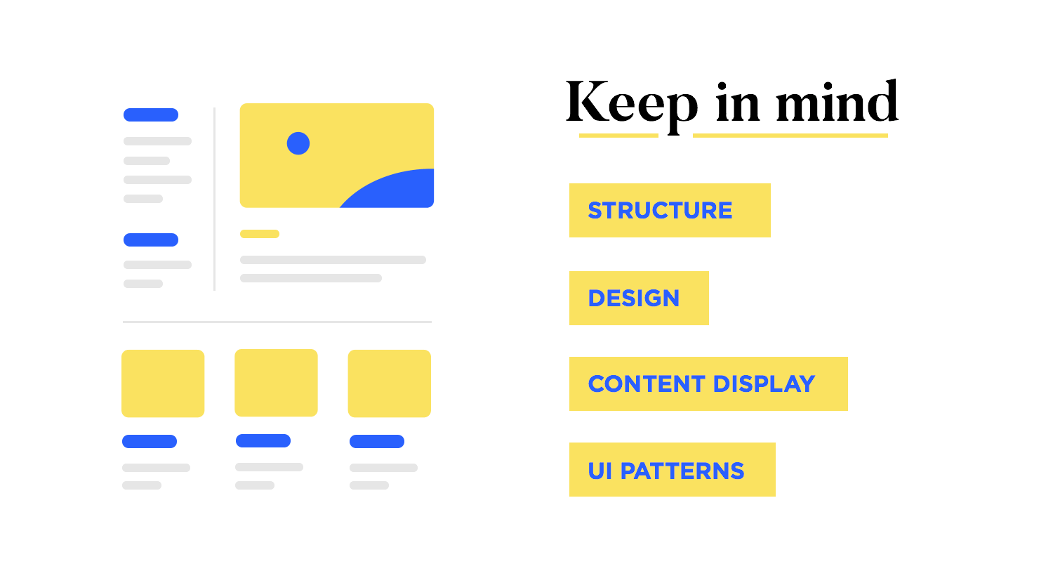 the role of ocontent structuring in web design