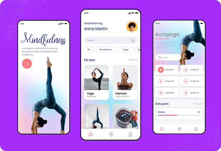 guided meditation app template