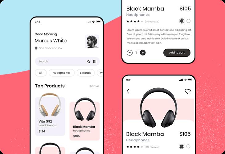 headphones ecommerce template