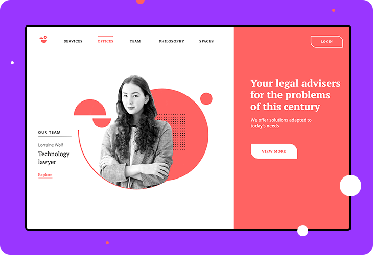 legal services homepage template