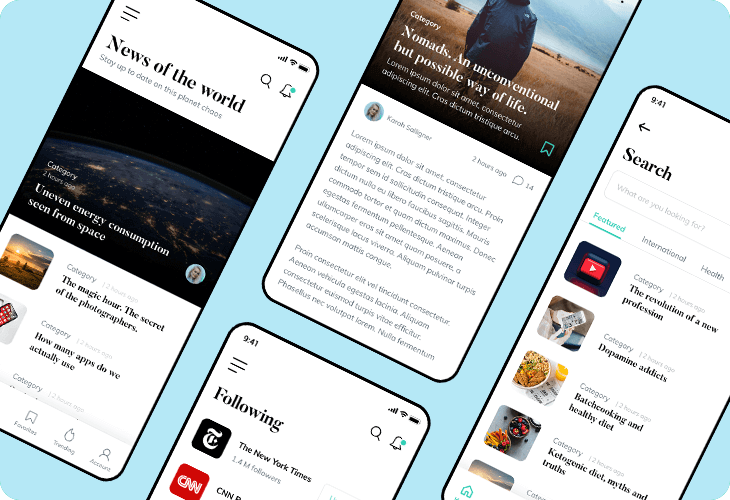 editorial news app template