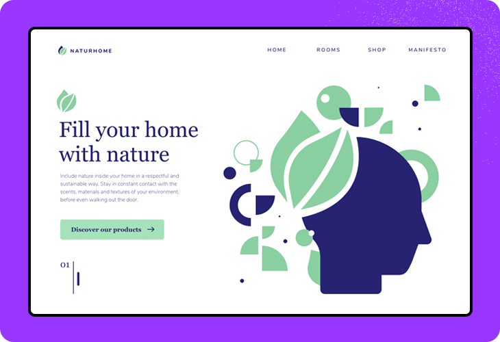 plant store website homepage
