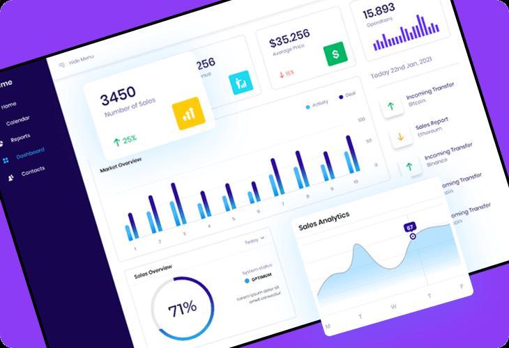 sales analytics dashboard template