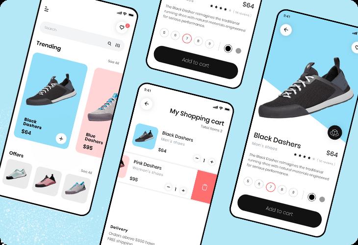shoe ecommerce app template