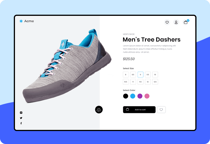 shoe online store template