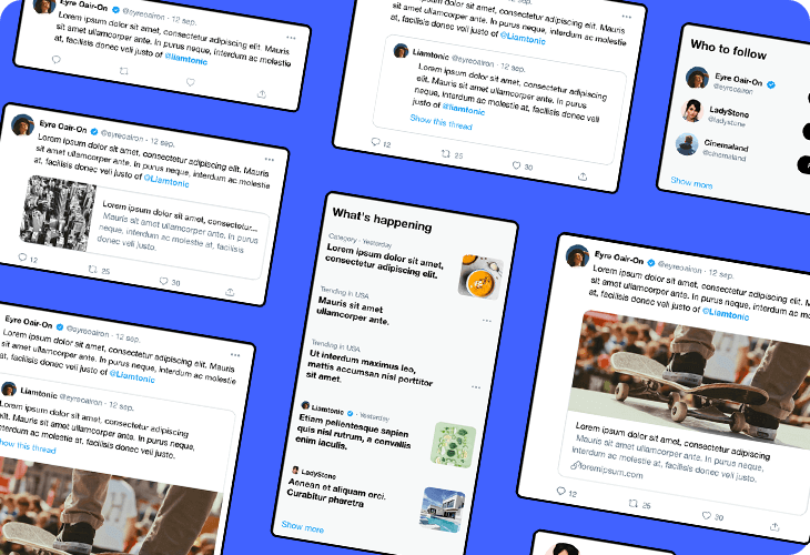 twitter app screens template